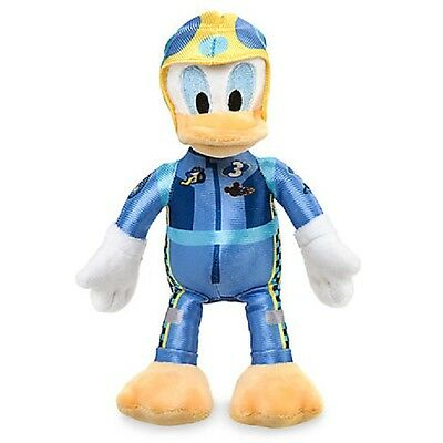 "Disney Store Mickey & Roadster Racers Donald Duck Plush 8 3/4"" H"