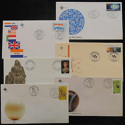 PG-A900 SOUTH AFRICA IND - Fdc, 1976,1977, Various Subject Covers