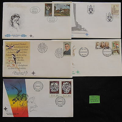 PG-A902 SOUTH AFRICA IND - Fdc, 1980, Yearset Selection Covers