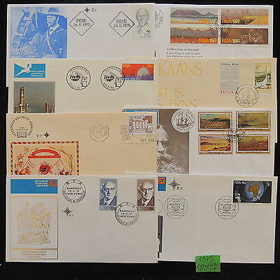 PG-A904 SOUTH AFRICA IND - Fdc, 1975, Yearset Covers