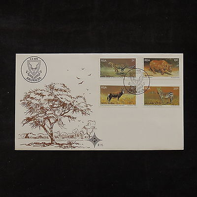 PG-A911 SOUTH AFRICA IND - Wild Animals, 1976, National Parks Board Fdc Cover