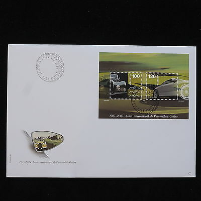 PG-B022 SWITZERLAND - Cars, 2005 Fdc, International Automobile Exhibition Cover