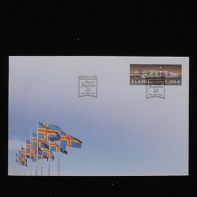 PG-B060 ALAND - Fdc, 2004, Flags Cover