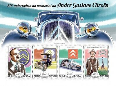 Z08 IMPERFORATED GB15213a GUINEA-BISSAU 2015 Andre-Gustave Citroen MNH ** Postfr