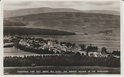 Early Postcard -Tomintoul - Inverness-Shire   -Real Photo