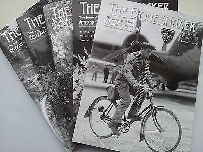 "Job Lot Collection Of 5 Veteran Cycle Club ""the Boneshaker"" Magazines"