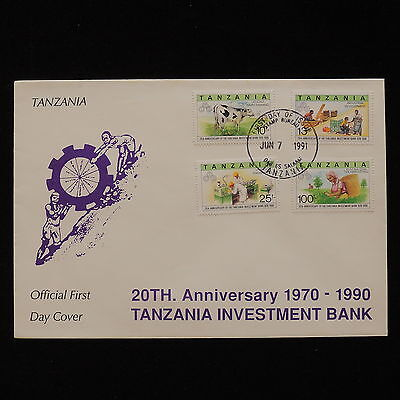 ZG-A073 TANZANIA - Fdc, 20Th Anniv. Of Investment Bank 1991 Fdc Cover