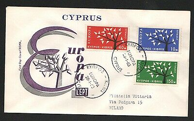 ZG-A104 CYPRUS IND - Europa Cept, 1962-1963 Rare Trees Fdc Cover