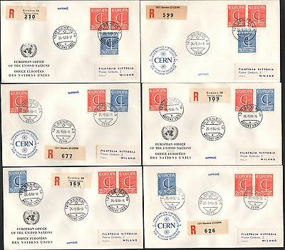 ZG-A179 SWITZERLAND - Europa Cept, 1966 Fdc Lot Of 6 Different Covers