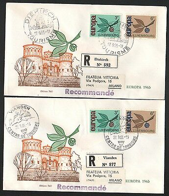 ZG-A249 LUXEMBOURG - Europa Cept, Fdc 1965 2 Registered Covers