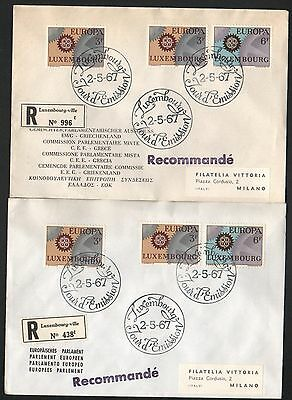 ZG-A255 LUXEMBOURG - Europa Cept, Fdc 1967 2 To Italy Covers