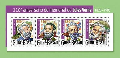 Z08 IMPERFORATED GB15322a GUINEA-BISSAU 2015 Jules Verne MNH ** Postfrisch