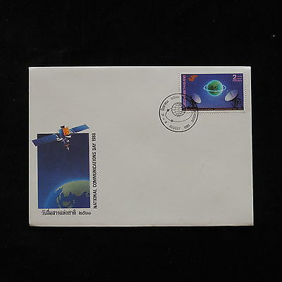 ZG-A359 THAILAND - Space, 1988 National Communication Day Fdc Cover