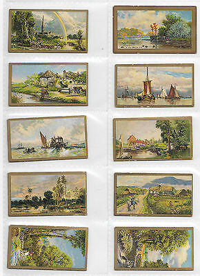 Cigarette Cards - Reproductions Of Celebrated Oil Paintings - Cavanders Full Set