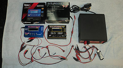 2 LIPO CHARGERS & RIPMAX POWER SUPPLY. IMAX B6, GT POWER V5, LOADS OF CABLES etc