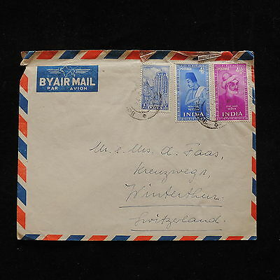 ZG-A532 INDIA IND - Cover, Poets, Temple Great Franking To Switzerland