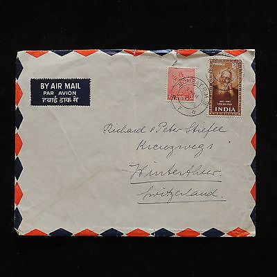ZG-A534 INDIA IND - Cover, Poets, Airmail To Switzerland