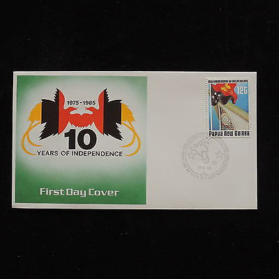 ZG-A553 PAPUA NEW GUINEA IND - Birds, 10Th Years Of Independence 1985 Cover