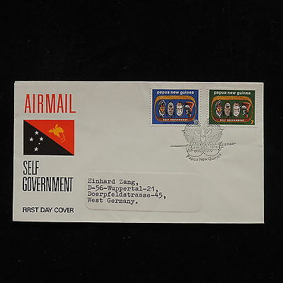 ZG-A554 PAPUA NEW GUINEA IND - Fdc, Self Government 1973 Cover