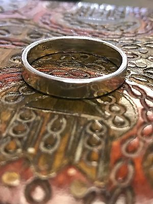 LARGE Solid Sterling Silver Wedding Band Ring Men's / Gents Hallmark 925 Size W