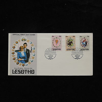 ZG-A698 LESOTHO - Royalty, Royal Wedding Fdc 1981 Cover