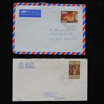 ZG-A744 NIUE IND - Christmas, 1986, 1991, 2 Covers