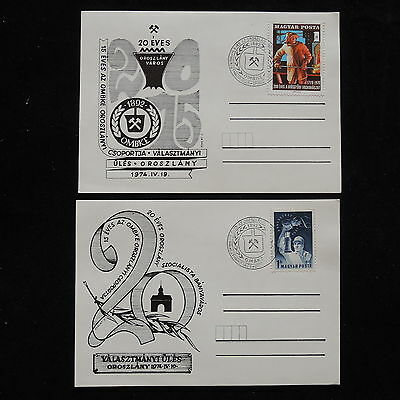 ZG-A758 HUNGARY - Lot, 2 Different Commemorative Postcards