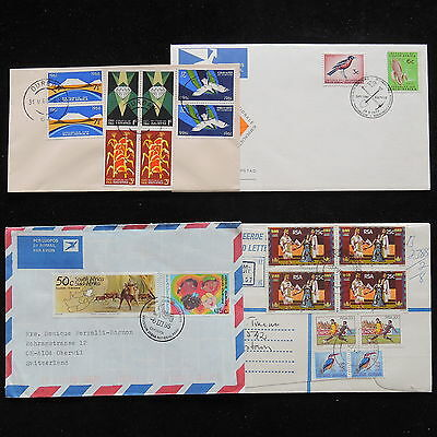 ZG-A814 SOUTH AFRICA IND - Lot, 4 Different Covers