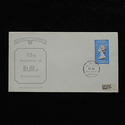 ZG-A961 GUERNSEY - Fdc, 25Th Anniv. Of Queen Elizabeth Coronation 1978 Cover