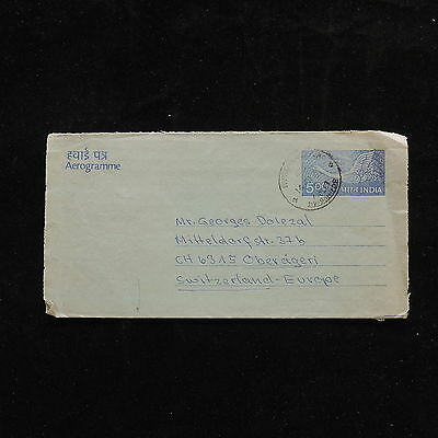 ZG-A972 INDIA IND - Air Letter, Goose, Bird, Great Franking To Switzerland Cover