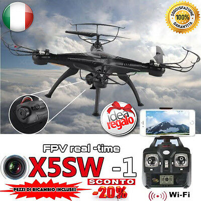 DRONE X5SW SIMIL SYMA FPV REALTIME HEADLESS CAMERA HD REAL TIME WiFi 2,4 GHz APP