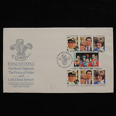 ZG-A980 GUERNSEY - Royalty, Royal Wedding Fdc 1981 Diana Cover