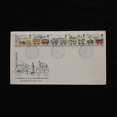 ZG-A983 GB FDC - Trains, Liverpool And Manchester Railway Cover