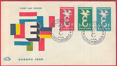 ZG-B076 LUXEMBOURG - Europa Cept, Fdc 1958 Covers