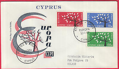 ZG-B078 CYPRUS IND - Europa Cept, Fdc 1962/1963 Covers