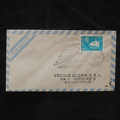 ZG-B118 ARGENTINA - Gronchi, 1961, President Return Flight To Italy, Cover