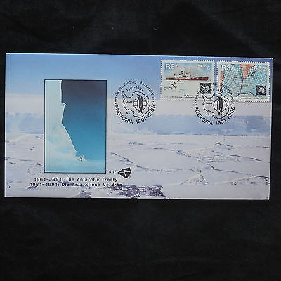 ZG-B135 SOUTH AFRICA IND - Antarctic, 1991, Fdc, The Antarctic Treaty, Cover