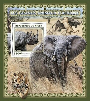 Z08 IMPERFORATED NIG16501b NIGER 2016 Big African animals MNH ** Postfrisch