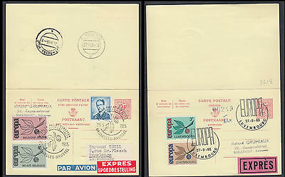 ZG-B158 BELGIUM - Luxembourg, Europa Cept, 1965 Entire With Reply Fdc Cover