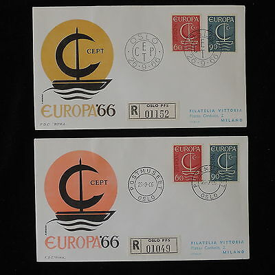 ZG-B164 NORWAY - Europa Cept, Fdc 1966 Postmuseet, 2 Cover