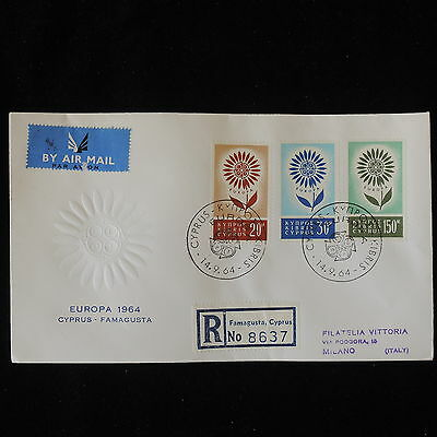 ZG-B167 CYPRUS IND - Europa Cept, Fdc 1964 To Italy Cover