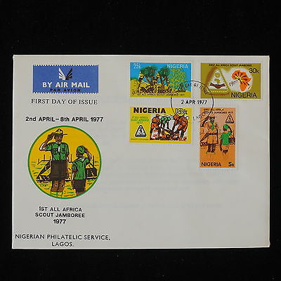 ZG-B181 BOY SCOUTS - Nigeria Ind, Fdc 1St All Africa Jamboree 1977 Cover
