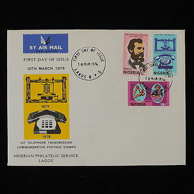 ZG-B196 NIGERIA IND - Telephone, 1976 Fdc Graham Bell Cover