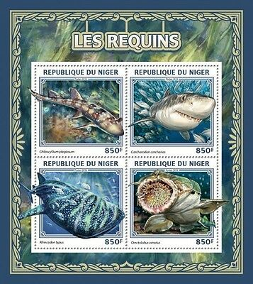 Z08 IMPERFORATED NIG16509a NIGER 2016 Sharks MNH ** Postfrisch