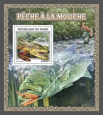 Z08 IMPERFORATED NIG16511b NIGER 2016 Fly fishing MNH ** Postfrisch