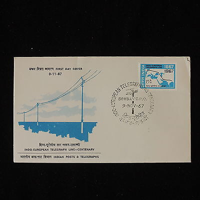 ZG-B226 INDIA IND - Fdc, 1967 Telegraph Line-Centenary Cover