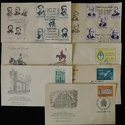 ZG-B228 ARGENTINA - Fdc, Lot Of 7 Different Covers