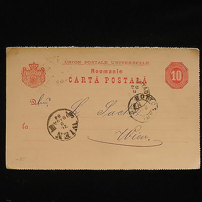 ZG-C013 ROMANIA - Entire, 1888, From Botosani To Vienna Cover