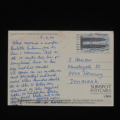 ZG-C077 MALAYSIA - Buildings, 2000, Postcard To Herning Cover