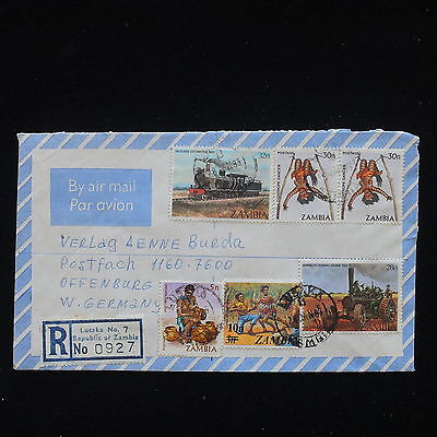 ZG-C146 COSTUMES - Zambia, 1983, Registered Air Mail Cover